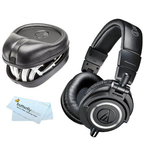 $134.95 Audio-Technica ATH-M50x Professional Monitor Headphones+ Case