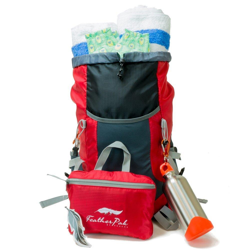 $14.99 Shacke FeatherPak - Adult Size Lightweight Travel Backpack / Foldable & Packable Daypack