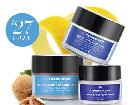 Free 3-Piece Deluxe Mini Setwith $50 Purchase @ Ole Henriksen