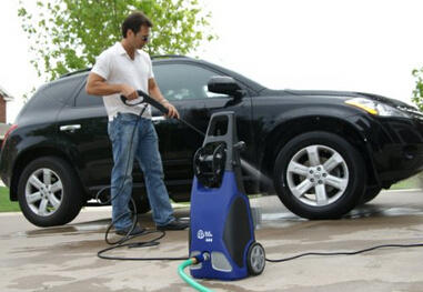$119.99 AR Blue Clean AR383 1,900 PSI 1.5 GPM 14 Amp Electric Pressure Washer with Hose Reel
