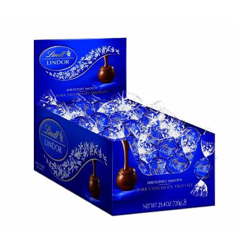 $12.99 Lindt LINDOR Dark Chocolate Truffles, 60 Count Box