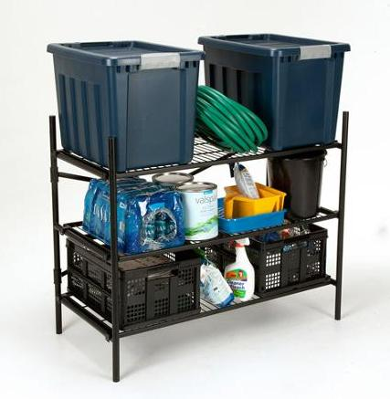 Cosco Stackable 3-Shelf Folding Instant Storage Unit