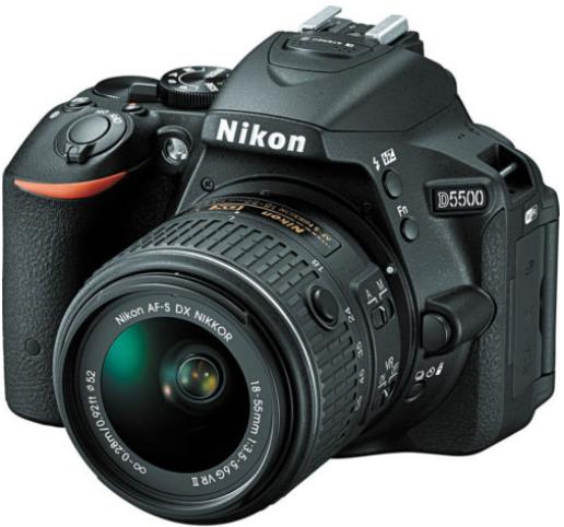 Nikon D5500 DX-format Digital SLR + 18-55mm VR II Kit