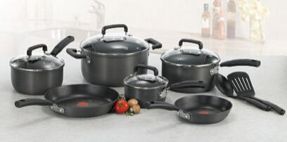 T-fal Signature Hard Anodized Nonstick Cookware Set, 12-Piece