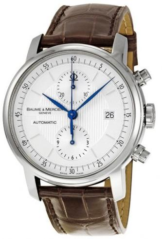 $1449 Baume and Mercier Classima Executives Steel XL Men's Watch