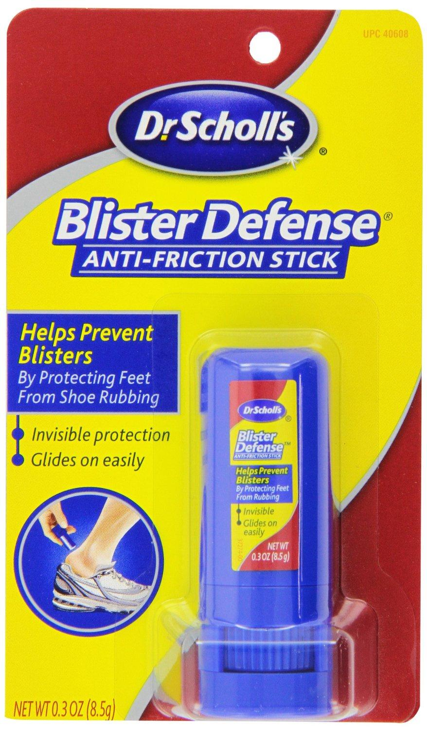 $20.73 Dr. Scholl's Blister Defense Stick, 0.3-Ounce Stick (Pack of 4)