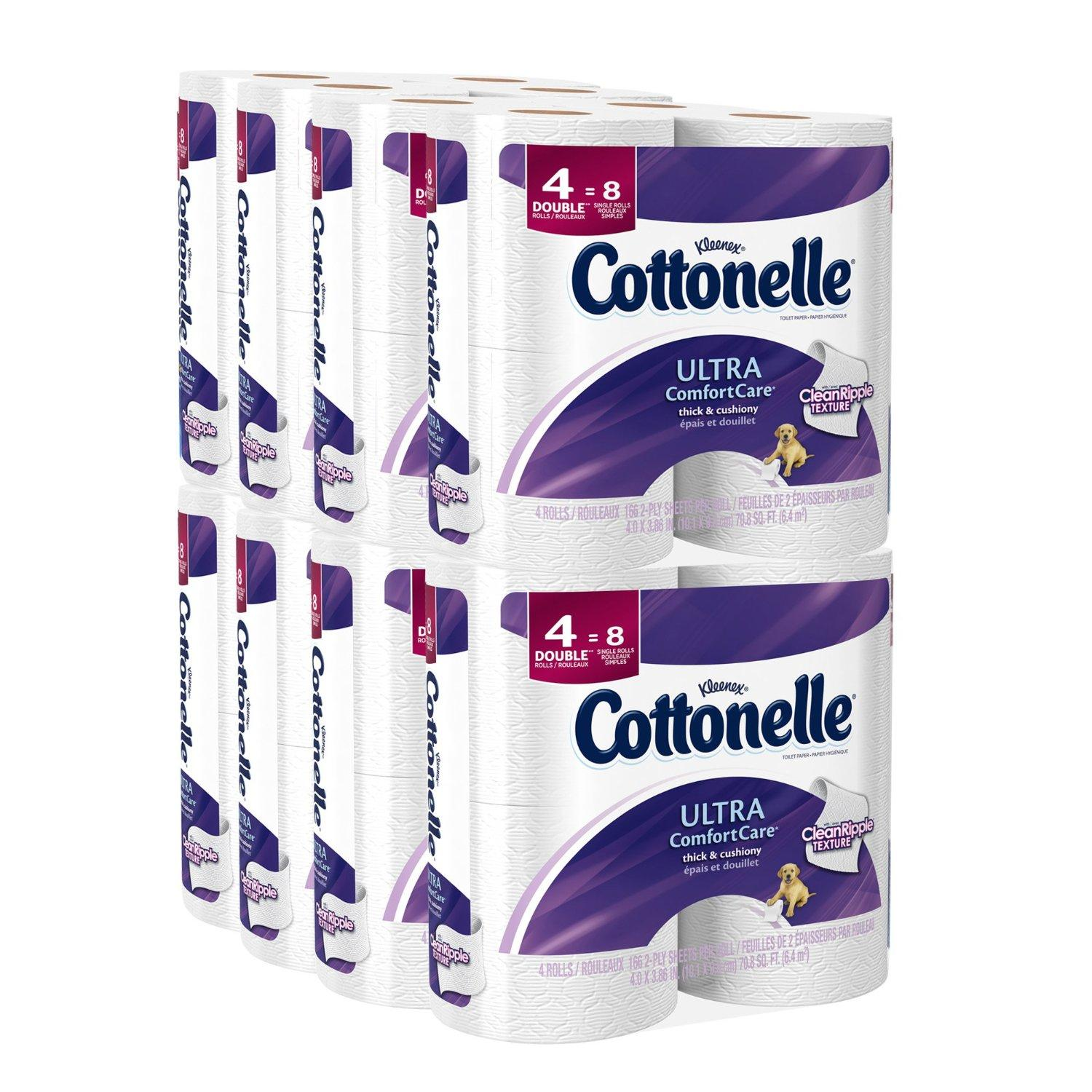 $11.97 Cottonelle Ultra Comfort 卫生纸, Double Roll 32卷