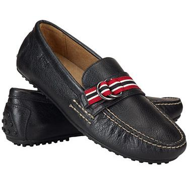 $52.48 Polo Ralph Lauren Men's Willem Leather Ribbon Loafers