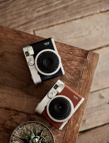 $141 Fujifilm Instax Mini 90 Neo Classic Instant Film Camera (Brown)
