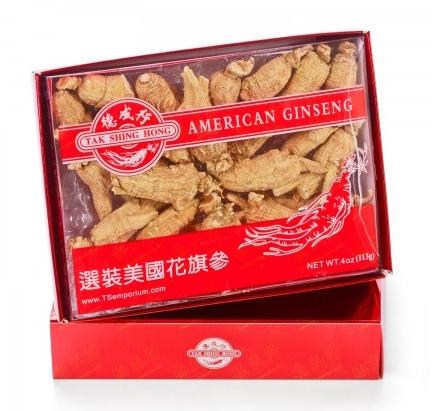 $338 For 4 Boxes + Free gifts Semi-Wild Am.Ginseng RR120-AAAA 4oz Purchase @ Tak Shing Hong