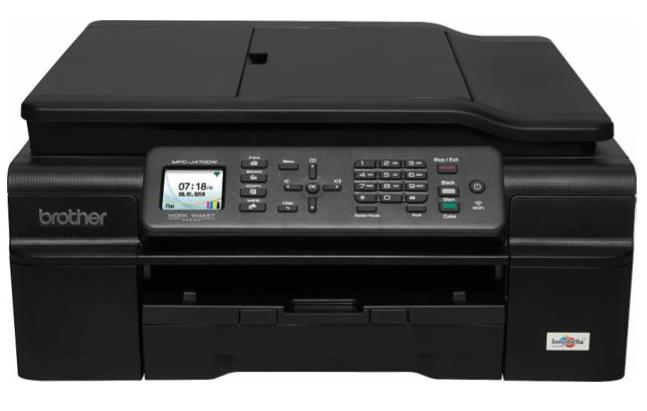 Brother Wireless Color Inkjet All-in-One Printer MFC-J470dw