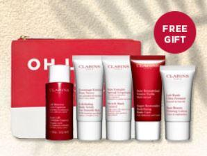 Up to 15% Off select products + 6 pcs Body Gift  with $100 purchase  @ Clarins