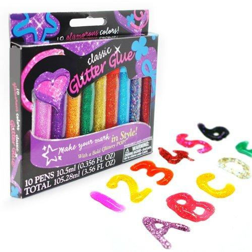 Elmer's 3D Washable Glitter Pens, Classic Rainbow and Glitter Colors, Pack of 10 Pens