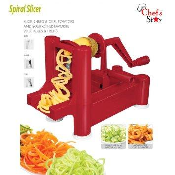 $15.99 Chef's Star Spiralizer Omni-Blade Spiral Vegetable Slicer , Peeler & Shredder