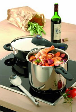 $220.28 WMF Perfect Plus 8-1/2-Quart and 4-1/2-Quart Stainless Steel Pressure Cookers with Interchangeable Locking Lid