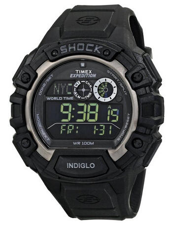"""$42.06 Timex Men's T499709J """"Expedition Global Shock"""" Resin Watch with Black Rubber Band"""