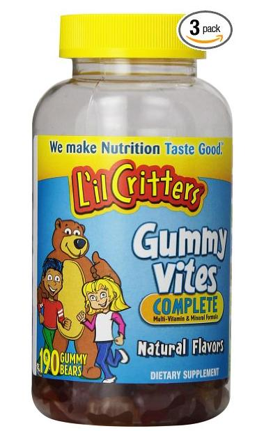 $31.41 Lil Critters Gummy Bear Vitamins, 190-Count Bottles (Pack of 3)