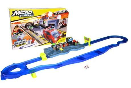 $8 Moose Toys Micro Chargers Pro Racing Pit Stop Track