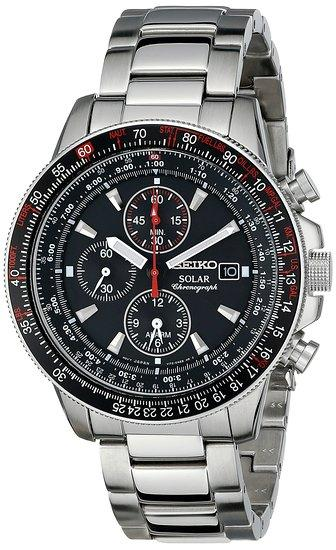 $139.95 Seiko Men's SSC007 Stainless Steel Watch with Link Bracelet