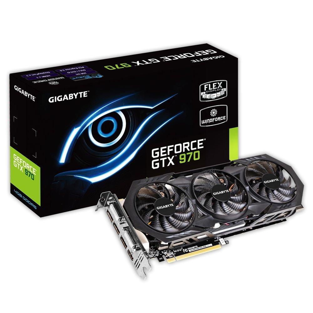 $294.99 Gigabyte GeForce GTX 970 Overclocked GDDR5 Pcie Video Graphics Card, 4GB