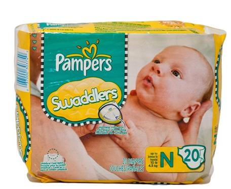 $27.99 Pampers Swaddlers Newborn 240 Diapers (12 packs of 20)