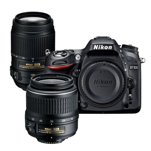 $699.99 Nikon Refurbished D7100 DSLR with 55-300 VR and 18-55mm Nikkor Lens