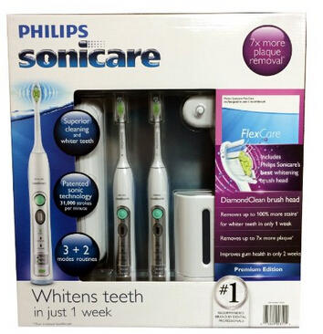 $181.87 Philips Sonicare Flexcare Rechargeable Sonic Toothbrush Premium Edition 2 pack bundle