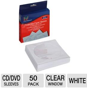 50-Pack of Color Research Protective Paper Sleeves For CDs/DVDs/Blu-Rays (C18-42029)