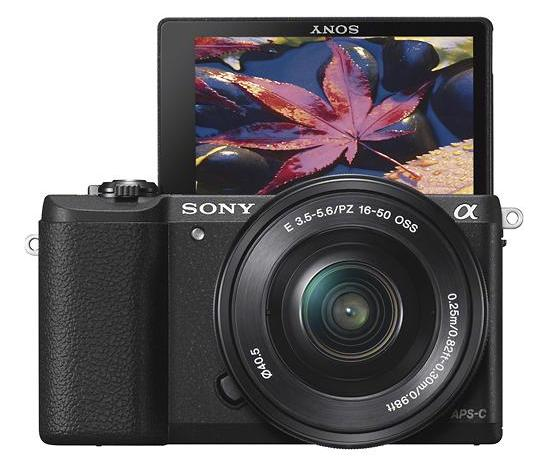 $389.99 (Open-box) Sony a5100 16-50mm Interchangeable Lens Camera with 3-Inch Flip Up LCD