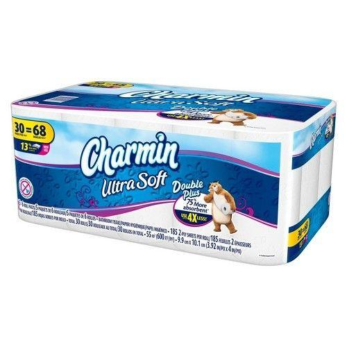 Charmin Ultra Soft Bathroom Tissue 30 Double Plus Rolls