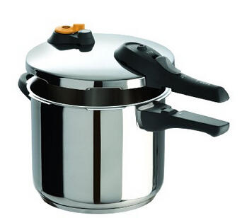 $55.99 T-fal P2510737 Stainless Steel Dishwasher Safe PFOA Free Pressure Cooker Cookware