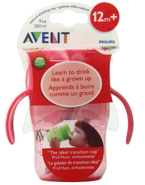 Philips Avent BPA Free Natural Drinking Cup, Pink, 9 Ounce