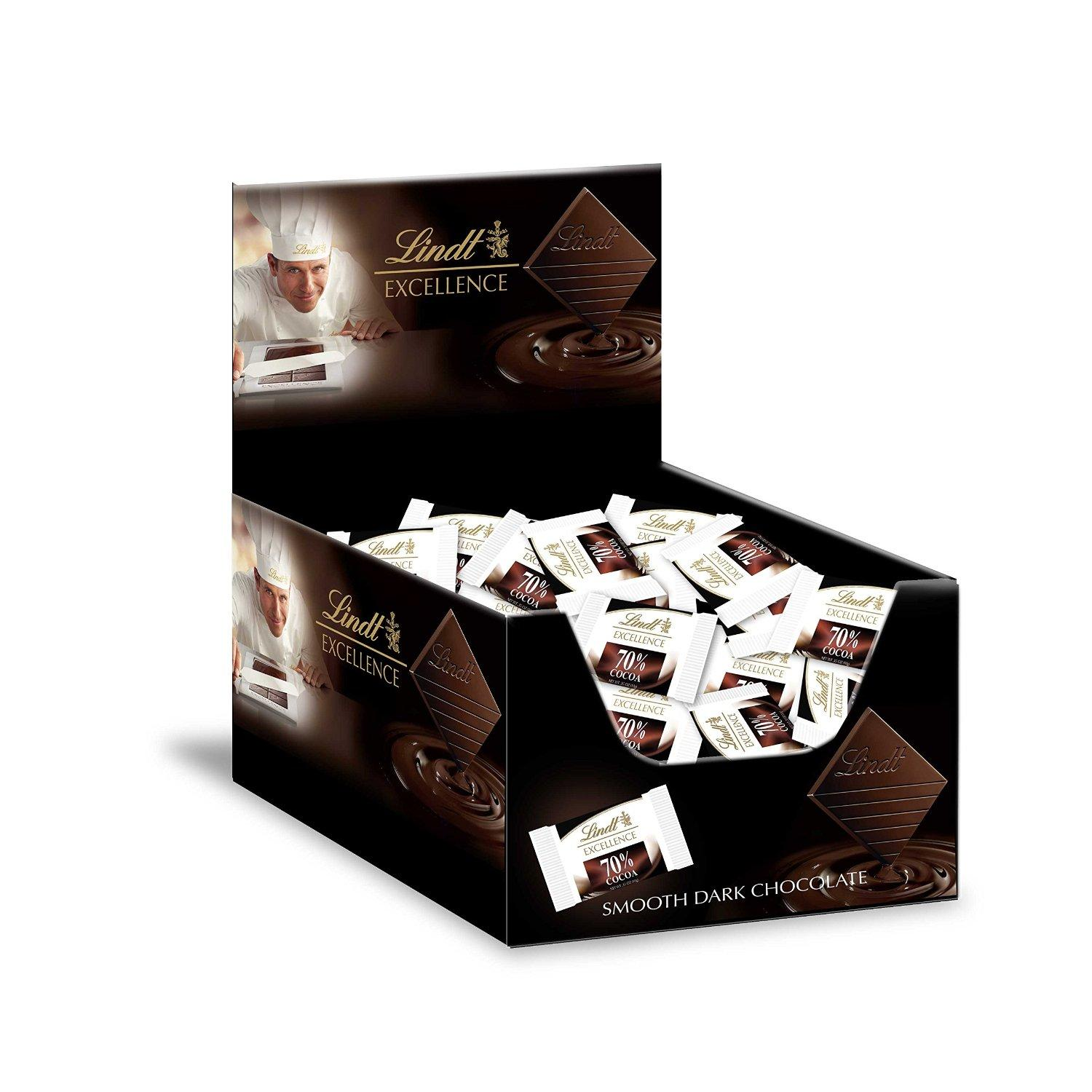 $10.84 Lindt EXCELLENCE 70% Cocoa Chocolate Diamonds 60ct Box