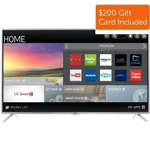 "$699.99 LG 55"" 55LF6100 1080p Smart HDTV (2015 Model) + $200 Gift Card"