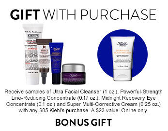 10% Off + Free 4 Pc gift with Kiehl's Purchase @ Nordstrom