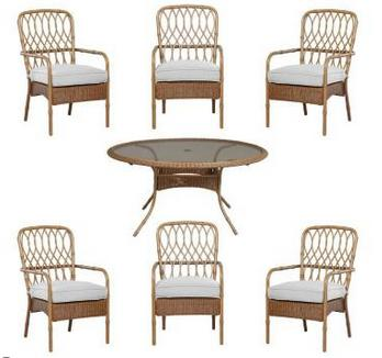 Hampton Bay Clairborne 7-Piece Patio Dining Set with Bare Cushion