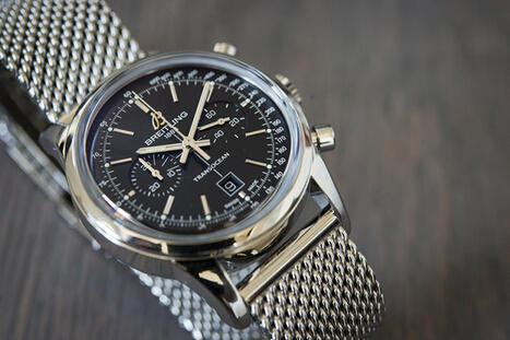 $2995 Breitling TransOcean 38 Chronograph Black Dial Stainless Steel Watch A4131012-BC06SS