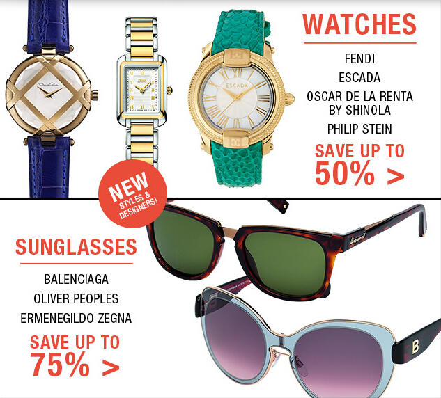Up to 75% OFF Sunglasses + Up to 50% Off Watches at Fashion Dash @ LastCall by Neiman Marcus