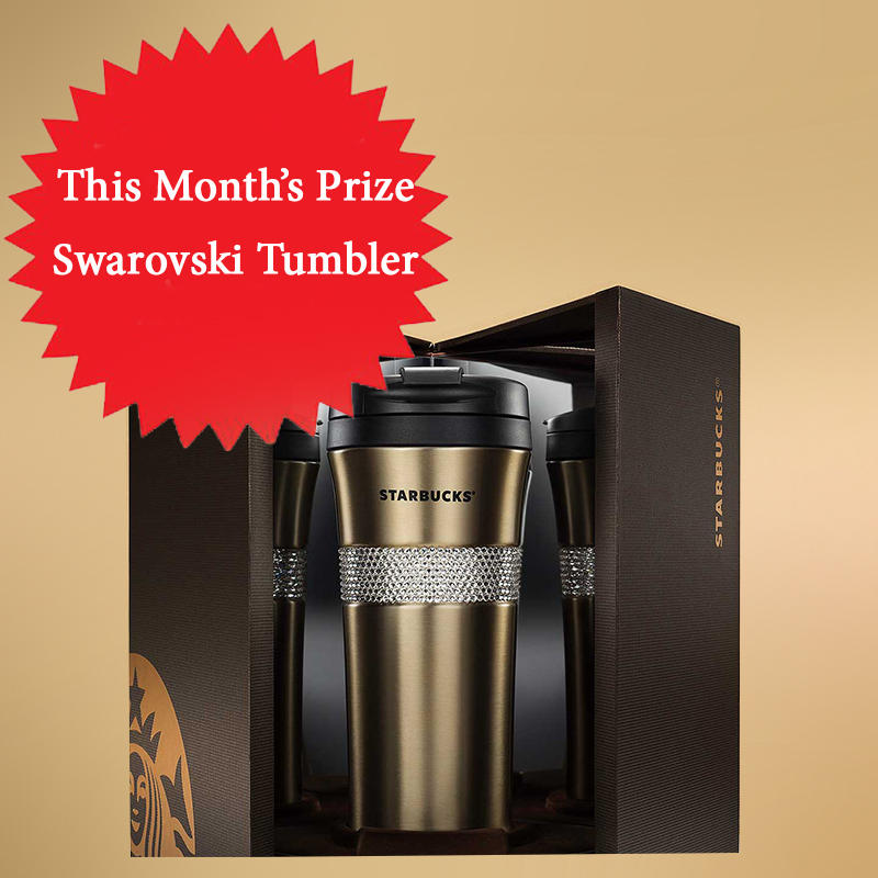 Subscribe to Dealmoon Newsletter,  Win the Starbucks Gold Swarovski Tumbler