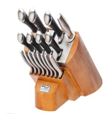 $79.99 Chicago Cutlery Fusion Knife Block Set 1090390, 18-Pieces, Stainless Steel