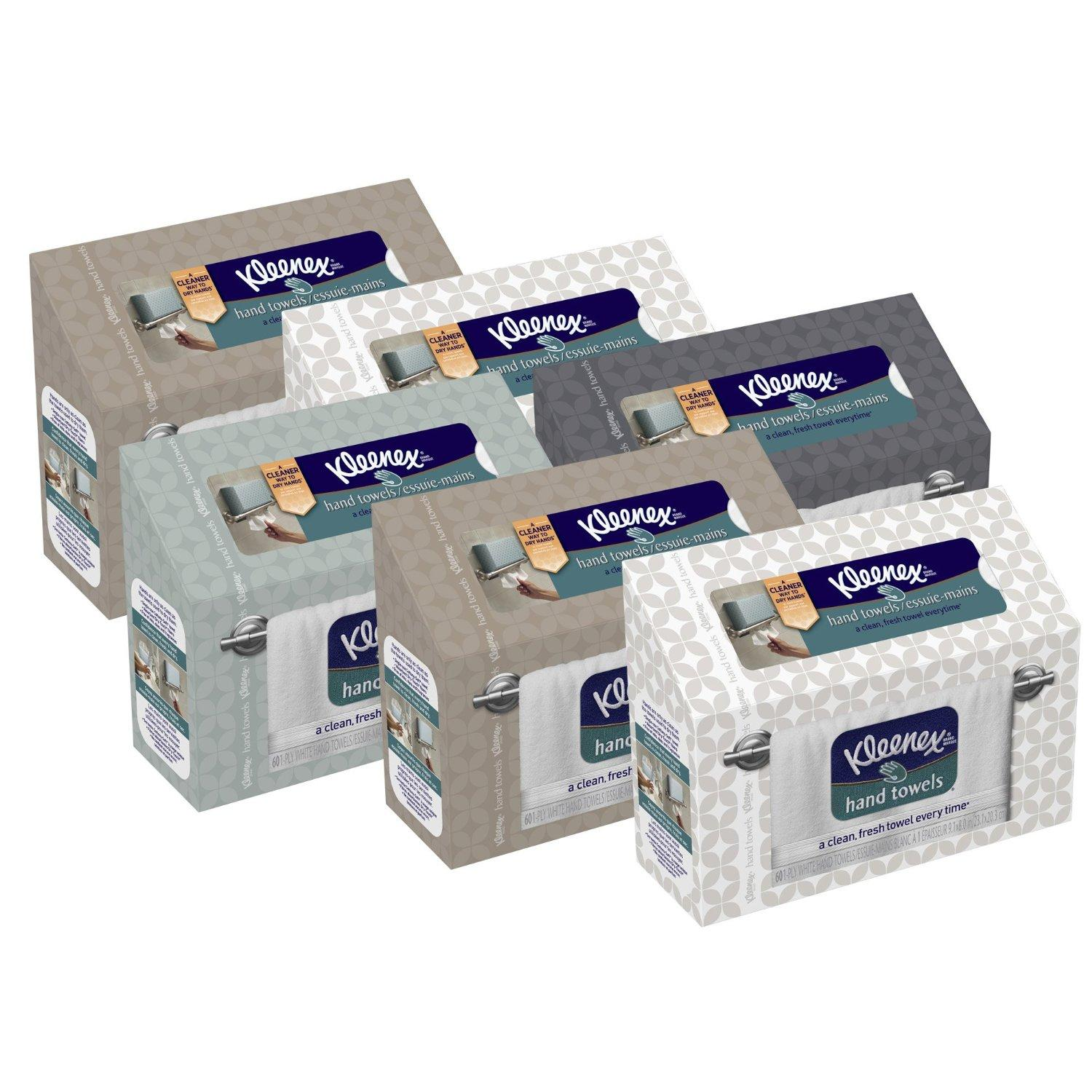 $10.63 Kleenex Hand Towels, 60 Count (Pack of 6)