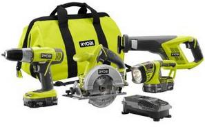 $129 18-Volt ONE+ Lithium-Ion Super Combo Kit (4-Piece)