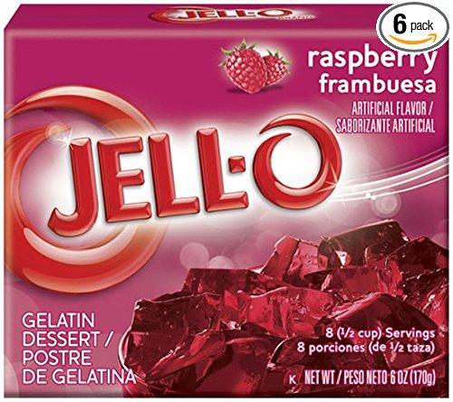 $2.37 Jell-O Gelatin Dessert, Raspberry, 3-Ounce Boxes (Pack of 6)