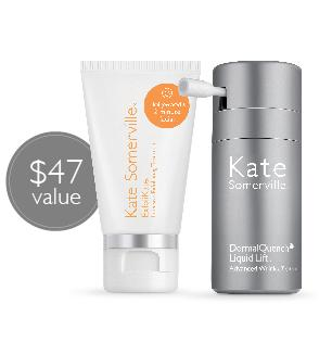 Mini ExfoliKate and DermalQuench Liquid Liftwith $120 Purchase @ Kate Somerville