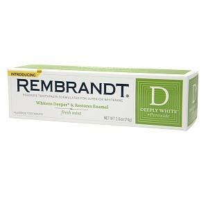 Rembrandt Deeply White + Peroxide Whitening Toothpaste with Fluoride, Fresh Mint - 2.6 oz