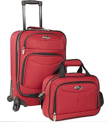 $33.99 U.S. Traveler Fashion 2 Piece Carry-on Spinner Set Luggage