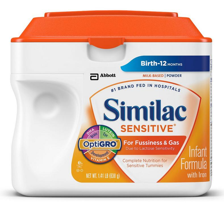 $111.68 Similac Sensitive Infant Formula with Iron, Powder, 23.3 Ounces (Pack of 6) (Packaging May Vary) by Similac