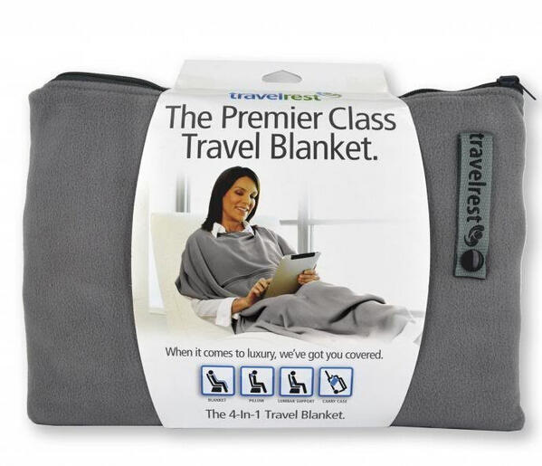 $19.95 Travelrest - 4-in-1 Premier Class Travel Blanket with Pocket