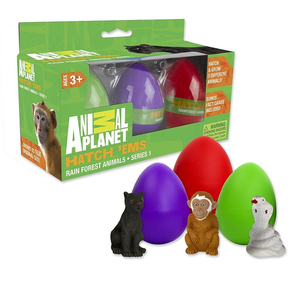 $8.95 Animal Planet Grow Eggs- Rain Forest- Hatch and Grow Three Different Super-Sized Animals