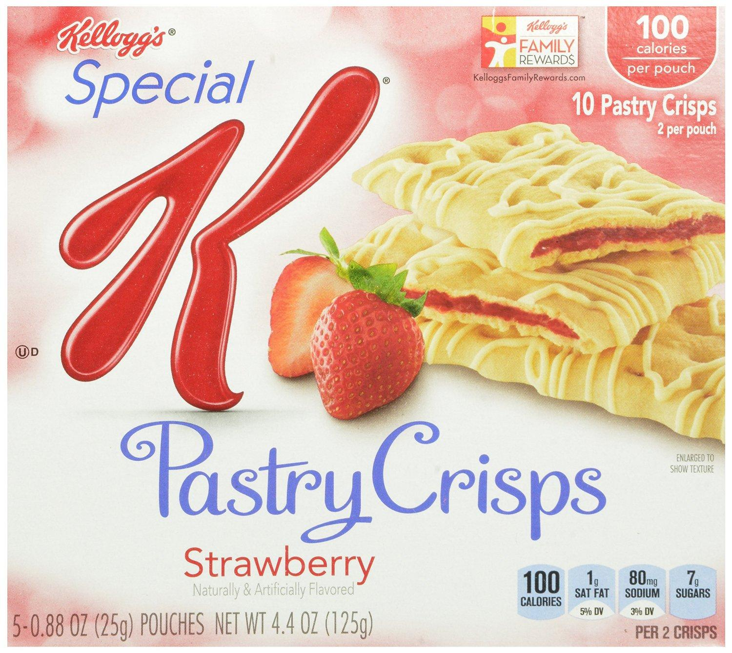 $7.56 Special K Fruit Crisps, Strawberry, 10-Count Bars (Pack of 4)